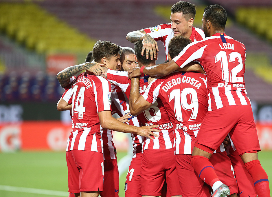 Temp. 19-20 | FC Barcelona - Atlético de Madrid | Piña | Celebración