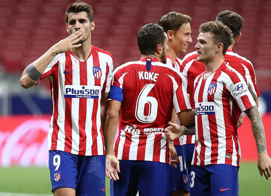 Temporada 19/20 | Atlético de Madrid - Mallorca | Piña | Celebración