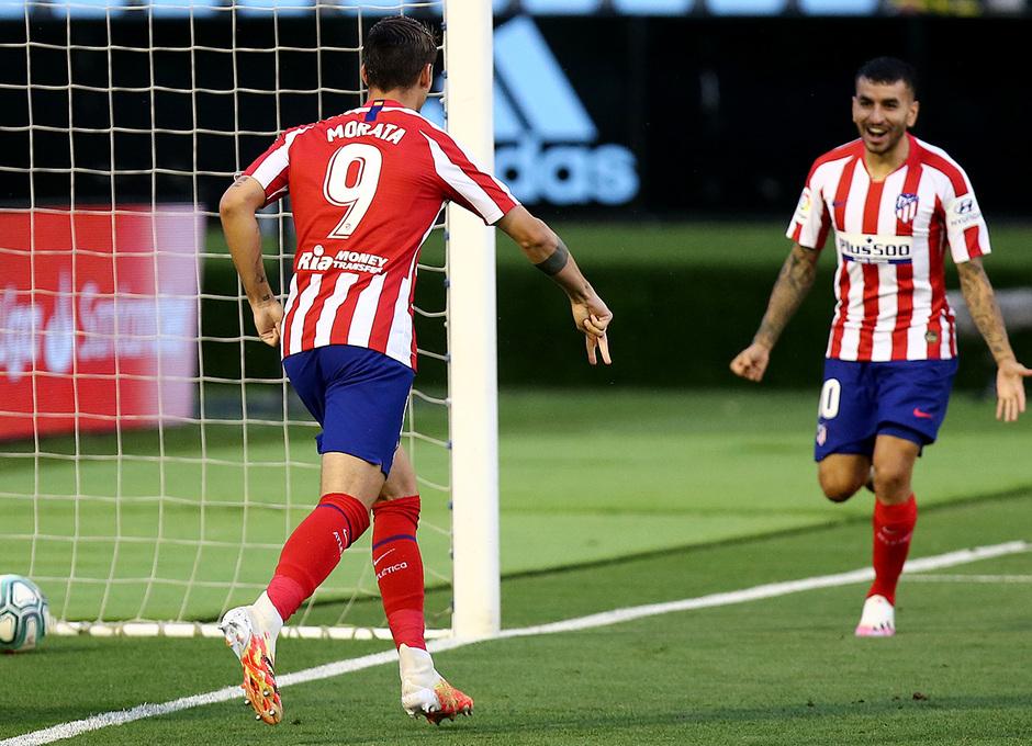 Temp. 19-20 | Celta - Atlético de Madrid | Celebración Morata y Correa