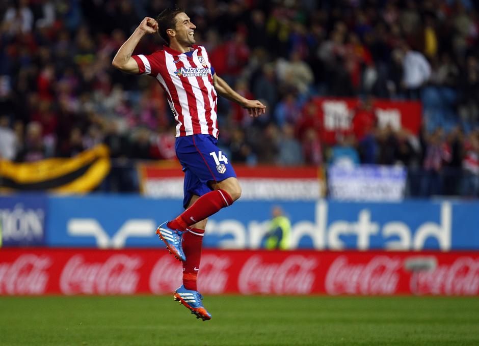 Temporada 13/14. Partido Atlético de Madrid-Betis. Gabi celebrando el gol