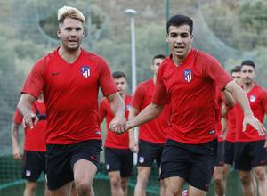 Temporada 19/20 | Entrenamiento en Marbella, fase de ascenso a Segunda División, Atlético B | JC y Manu Sánchez