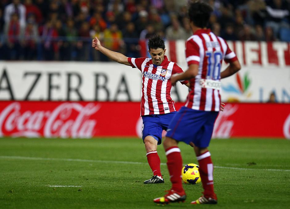 Temporada 13/14. Partido Atlético de Madrid-Betis. Gol de Villa
