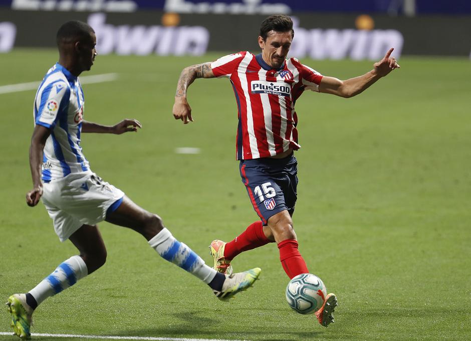 Temp. 19/20. Atlético de Madrid-Real Sociedad. Savic.