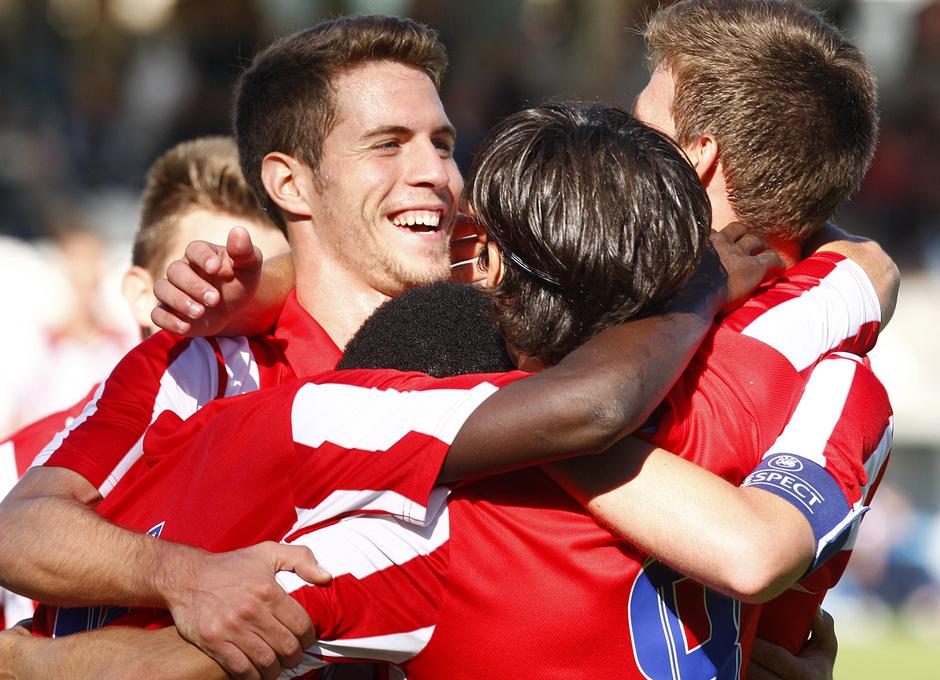 temporada 13/14. Partido Youth League. Atlético-Austria de Viena