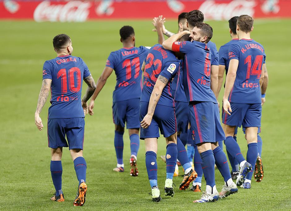 Temp. 20-21 | Real Sociedad - Atlético de Madrid | Celebración del gol de Hermoso