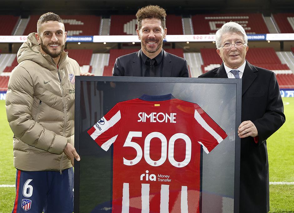 Simeone 500 | Koke, Simeone, Cerezo