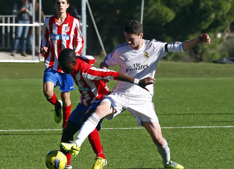 temporada 13/14. Partido de cadetes Atlético de Madrid Real Madrid