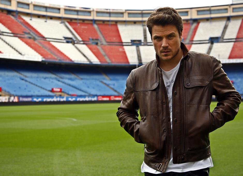 Dani Martín visitó el Estadio Vicente Calderón