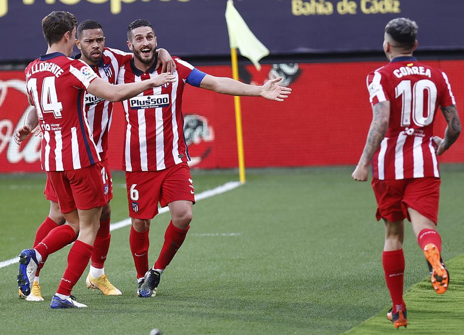 Temp. 20-21 | Cádiz - Atlético de Madrid | Koke celebración