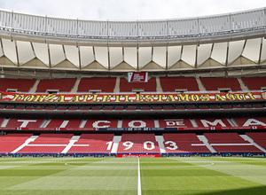 Temp. 2020/21   Atleti - Real Madrid   Pancarta