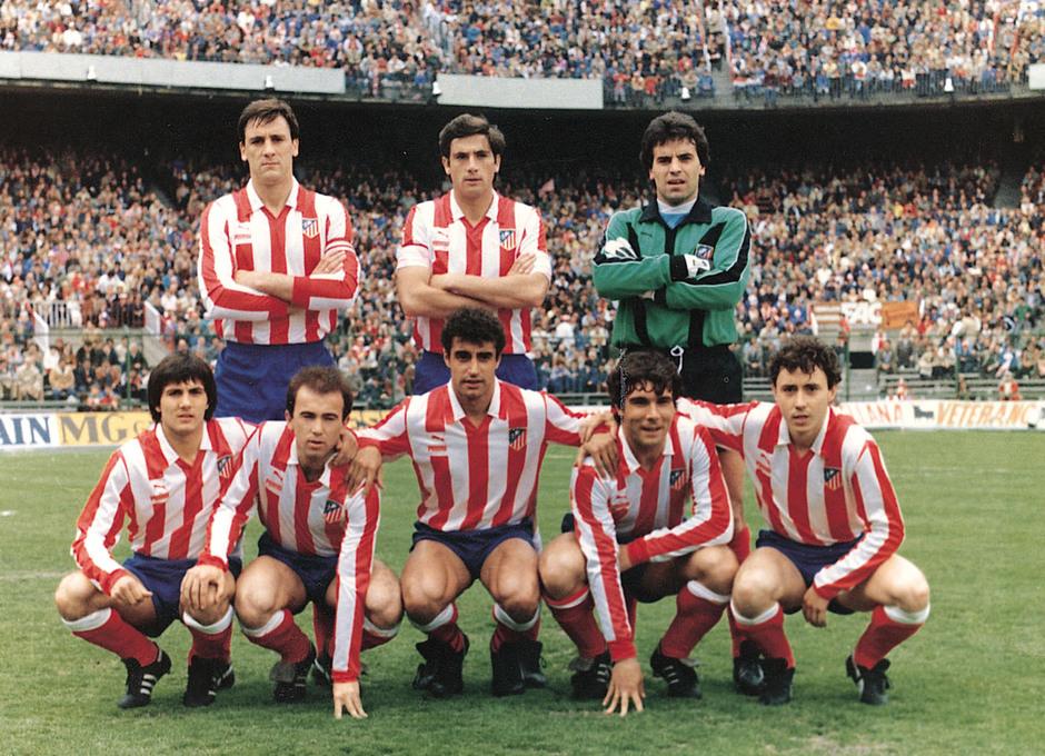 Temporada 13/14. Leyendas Rojiblancas. Kike Ramos equipo inicial con ocho jugadores