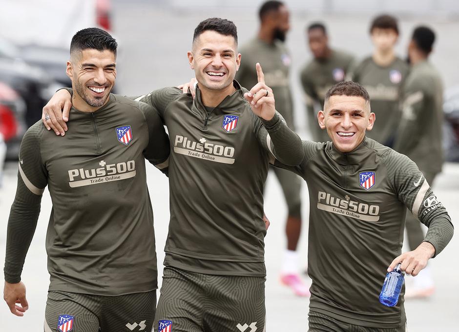 Temp. 2020/21 | Entrenamiento 24 abril | Suárez, Vitolo, Torreira