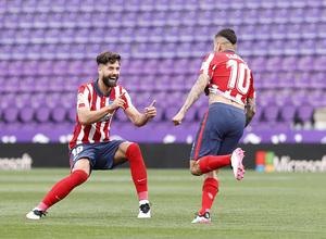 Temp. 20-21   Atleti-Valladolid   Celebración Felipe y Correa
