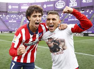 Temp. 20-21   Valladolid-Atleti   Celebración Joao y Torreira