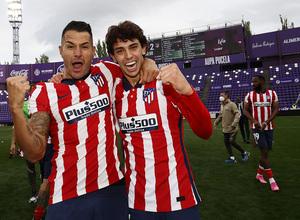 Temp. 20-21   Valladolid-Atleti   Celebración Joao y Vitolo