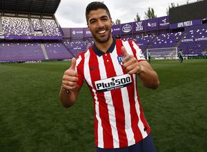 Temp. 20-21   Valladolid-Atleti   Celebración Suárez