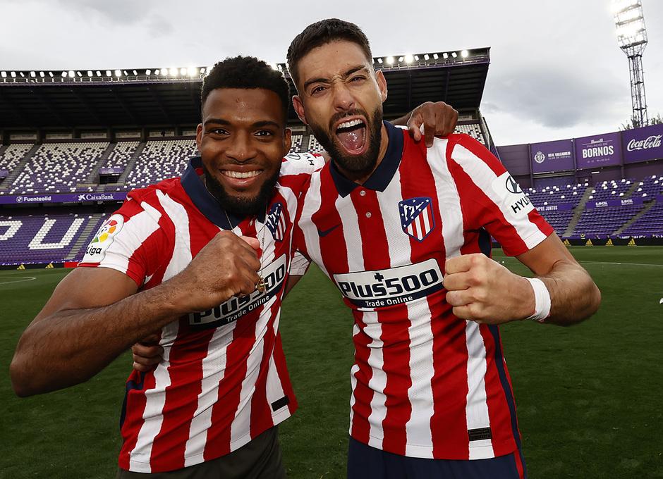 Temp. 20-21 | Valladolid-Atleti | Celebración Carrasco y Lemar