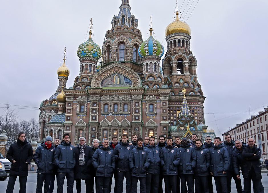 temporada 13/14. Partido Zenit Atlético de Madrid. Paseo por San Petersburgo.