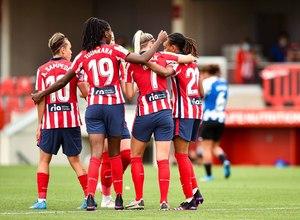 Temp. 20-21   Atlético de Madrid Femenino - Espanyol   Celebración