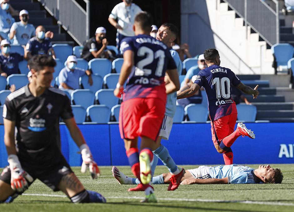 Temp. 21-22 | Celta - Atleti | Celebración Gol Correa