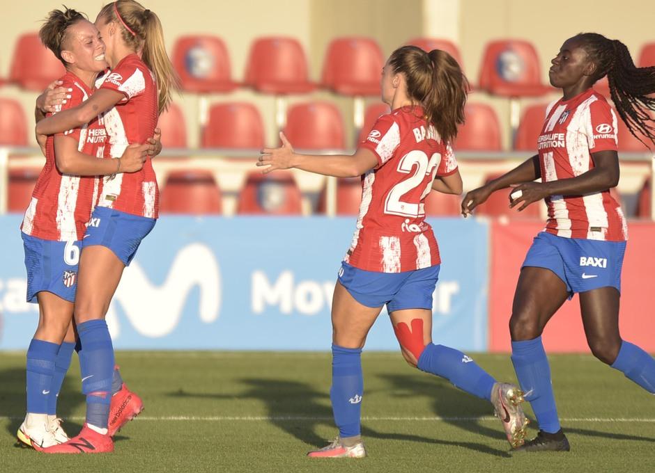 Temp. 21-22 | Atlético de Madrid Femenino - AS Roma | Celebración gol Amanda Sampedro