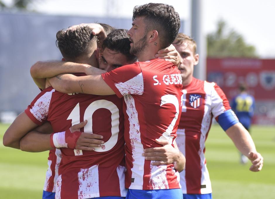 Temp. 21-22 | Atlético de Madrid B - AD Parla | Celebración Jordi