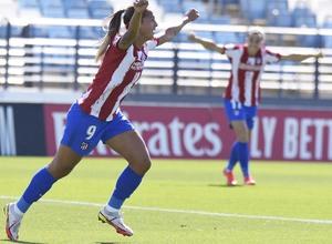 Temporada 20-21   Real Madrid - Atlético de Madrid Femenino   Deyna gol celebración