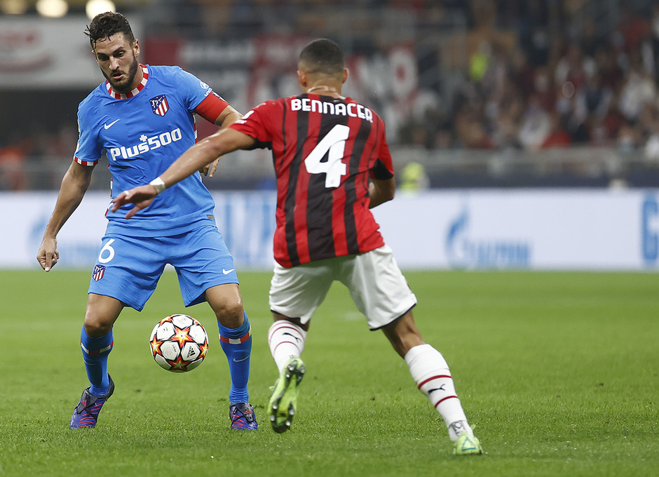 Temporada 2021/22   Champions League   AC Milan - Atleti   Koke