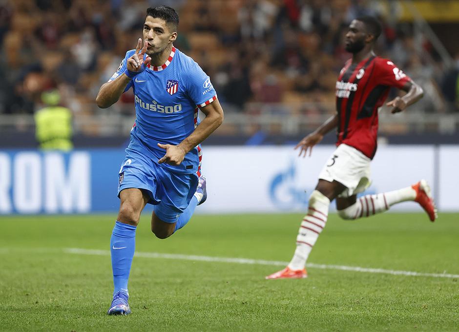 Temporada 2021/22 | Champions League | AC Milan - Atleti | Suárez celebración 1