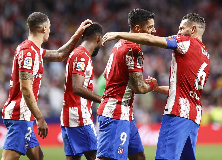 Temporada 2021/22 | Atlético de Madrid - FC Barcelona | Luis Suárez celebración