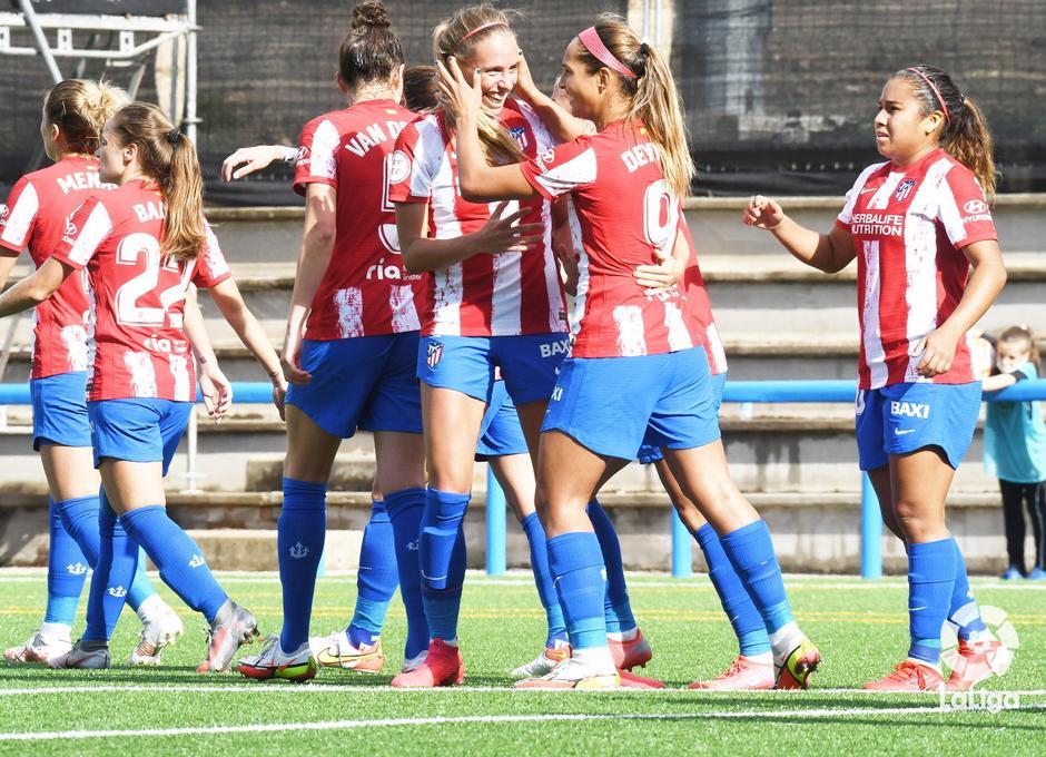 Temporada 21-22   Madrid CFF - Atlético de Madrid Femenino   Celebración