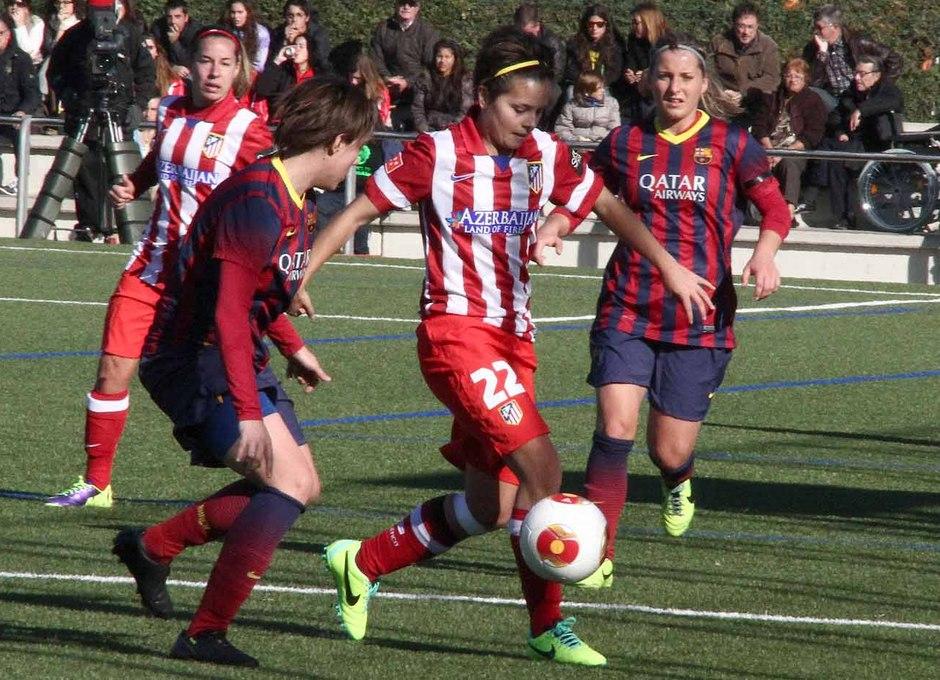 Temporada 2013-2014. FC Barcelona-Atlético de Madrid Féminas