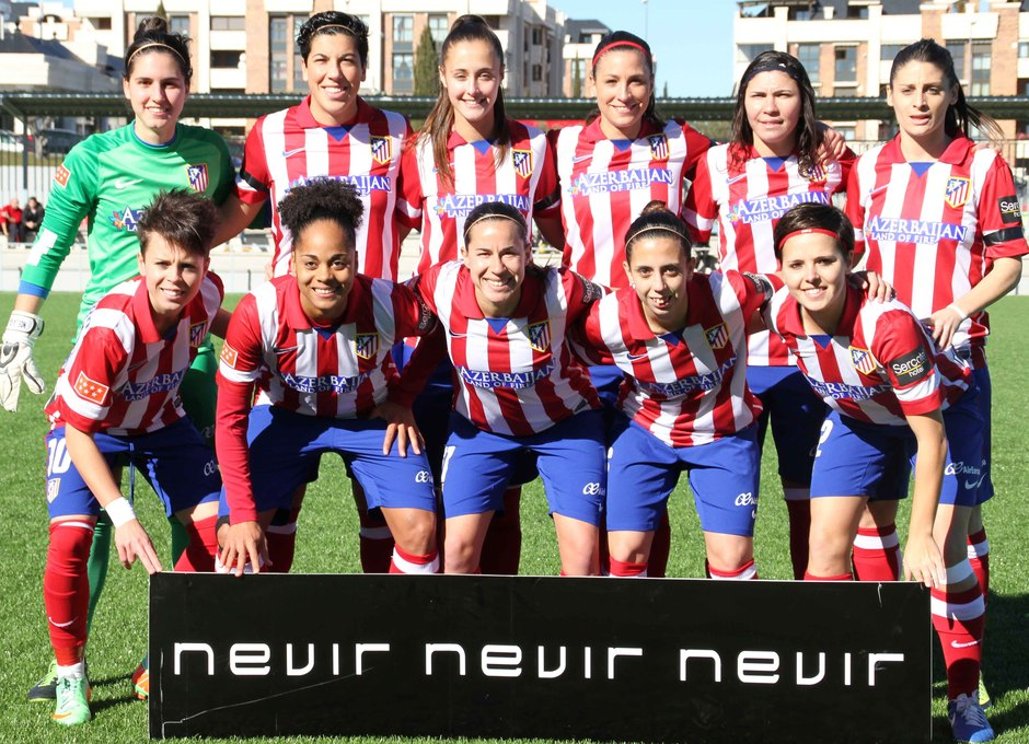 Temporada 2013-2014. Once inicial del Atlético de Madrid Féminas ante el Granada