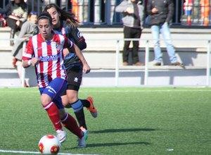 Temporada 2013-2014. Nagore durante el partido ante el Granada