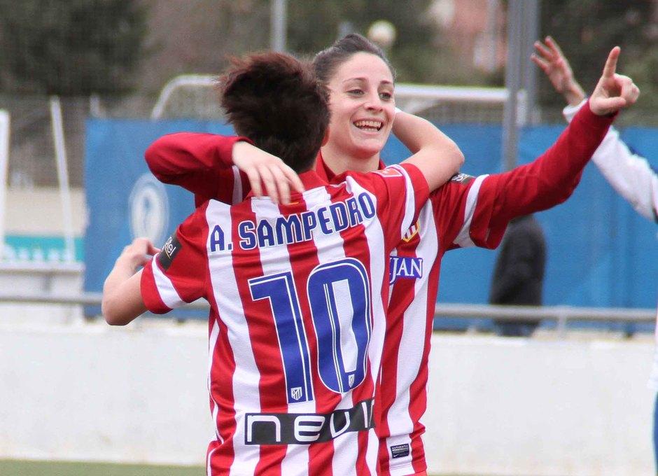 Temporada 2013-2014. Esther celebra un gol ante el Espanyol