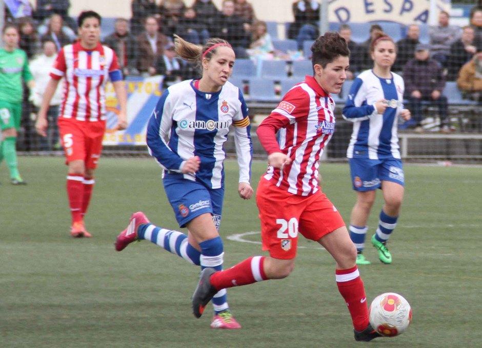 Temporada 2013-2014. Blanca durante el partido ante el Espanyol