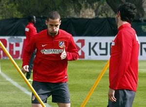 Temporada 13/14. Entrenamiento en la Ciudad Deportiva de Majadahonda. Mario entrena con intensidad.