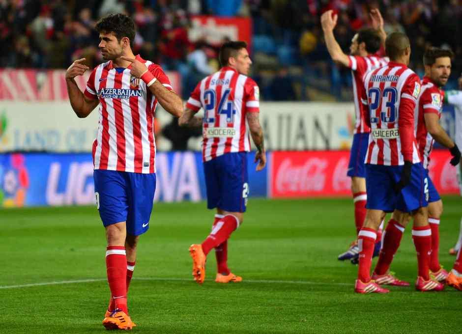 temporada 13/14. Partido Atlético Granada. Celebración Costa