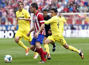 temporada 13/14 Partido. Atlético de Madrid_Villarreal. Koke con el balón