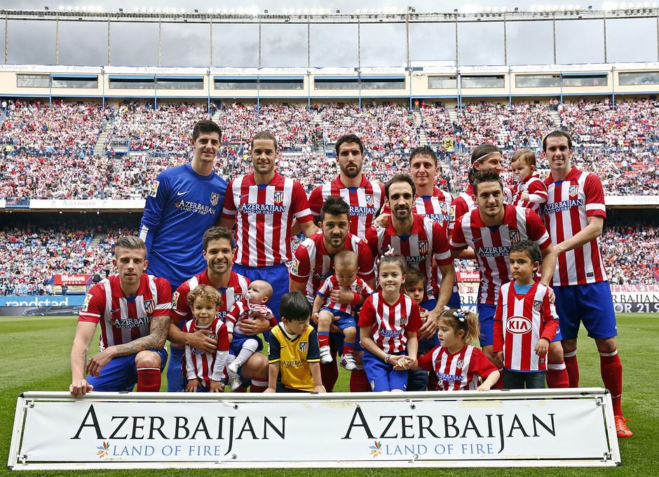 temporada 13/14 Partido. Atlético de Madrid_Villarreal. Ónce inicial