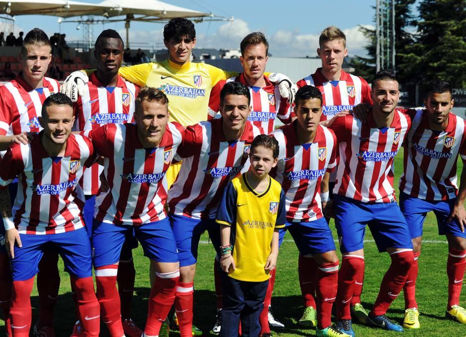 Once del Atlético B en el partido en el que ganó al Laudio por 3-1