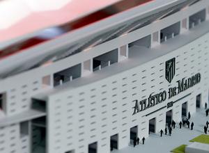 Maqueta del nuevo estadio - Entrada