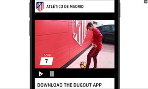 Disfruta de contenidos exclusivos del Atlético en la nueva app de Dugout