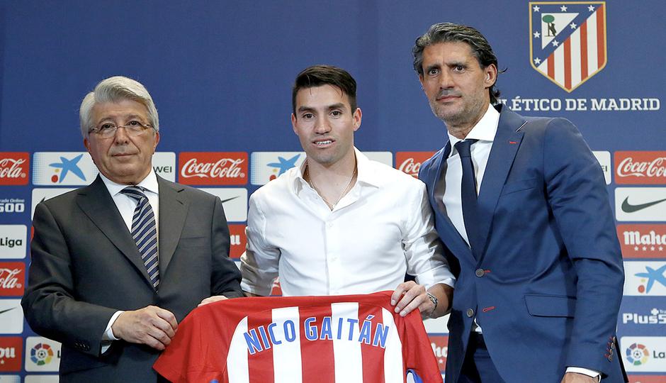 Presentación de Nico Gaitán en el Vicente Calderón