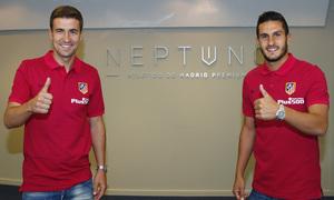 Gabi and Koke get to know Neptuno Atlético de Madrid Premium
