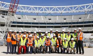 Los veteranos visitaron el nuevo estadio