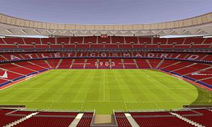 Así lucirá el espectacular graderío del Wanda Metropolitano