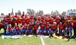Atlético de Madrid Ladies celebrate the League title