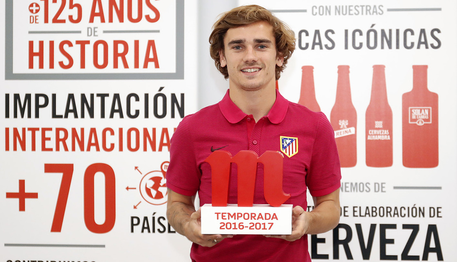 Antoine Griezmann, best player of April and the season