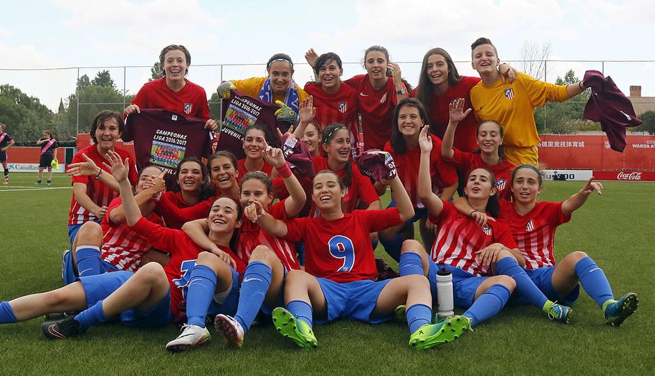 El Atlético de Madrid Juvenil A Femenino, campeón de liga